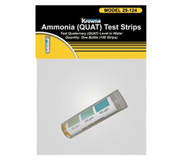 Krowne Metal Metal P25-124 Krowne QAC (Quaternary Ammonium Chloride) Test Strips Packaged with Header