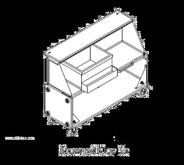 LaCrosse Cooler PB5-BK The Stow-Away Portable Bar