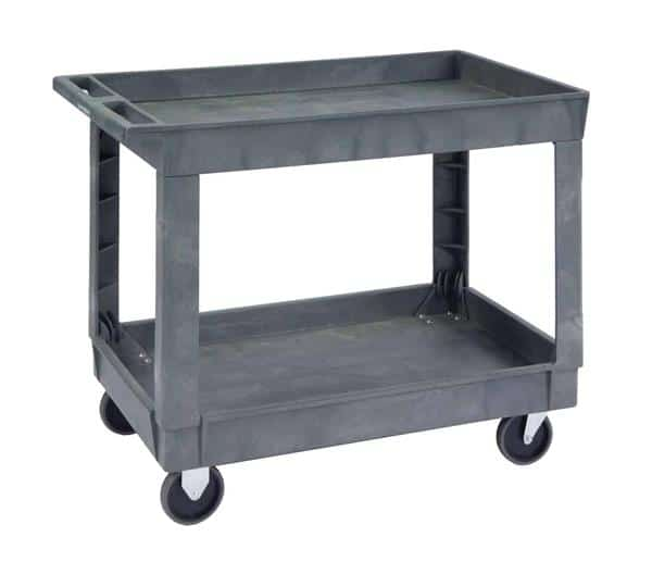 """Lakeside Manufacturing 2523 Open Base 500 Lb Capacity 2 Shelf Utility Cart, with 5"""" casters - 36""""W x 24""""D"""