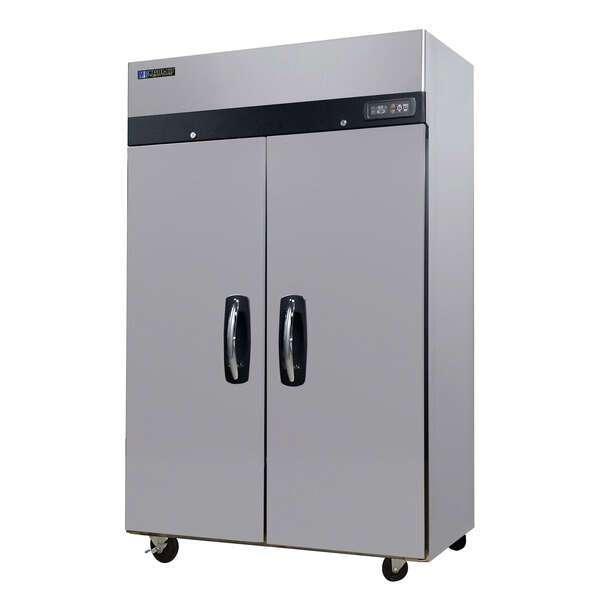 Master-Bilt MBTR49-S 54.75'' Top Mounted 2 Section Door Reach-In Refrigerator