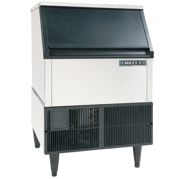 "Maxx Cold Maxximum MIM250 24.00"" Bullet Shaped Ice Ice Maker With Bin, Cube-Style - 200-300 lbs/24 Hr Ice Production, Air-Cooled, 115 Volts"
