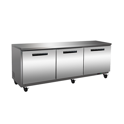 Maxx Cold Maxx Cold MXCF72U 71.50'' 3 Section Undercounter Freezer with 3 Left/Right Hinged Solid Doors and Side / Rear Breathing Compressor