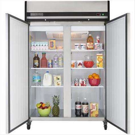Maxx Cold MXCR-49FD 53.90'' 49 cu. ft. Top Mounted 2 Section Solid Door Reach-In Refrigerator