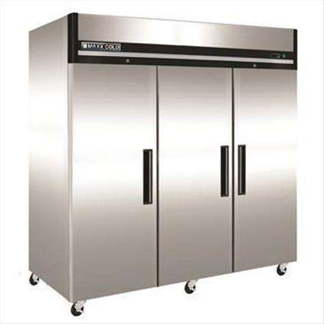 Maxx Cold Maxx Cold MXCR-72FD 81.00'' 72 cu. ft. Top Mounted 3 Section Solid Door Reach-In Refrigerator