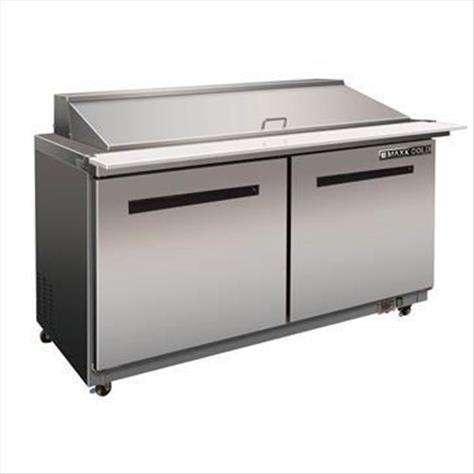 "Maxx Cold MXCR60M X-Series 60"" Megatop Sandwich & Salad"
