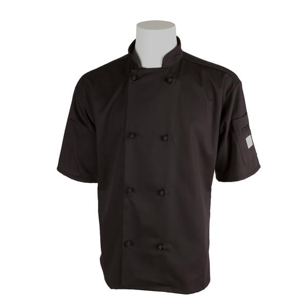 Mercer Culinary M60014BK2X Millennia® Unisex Jacket  short sleeve