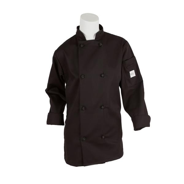 Mercer Culinary M60022BKXXS Millennia® Women's Jacket  (8) cloth knot buttons