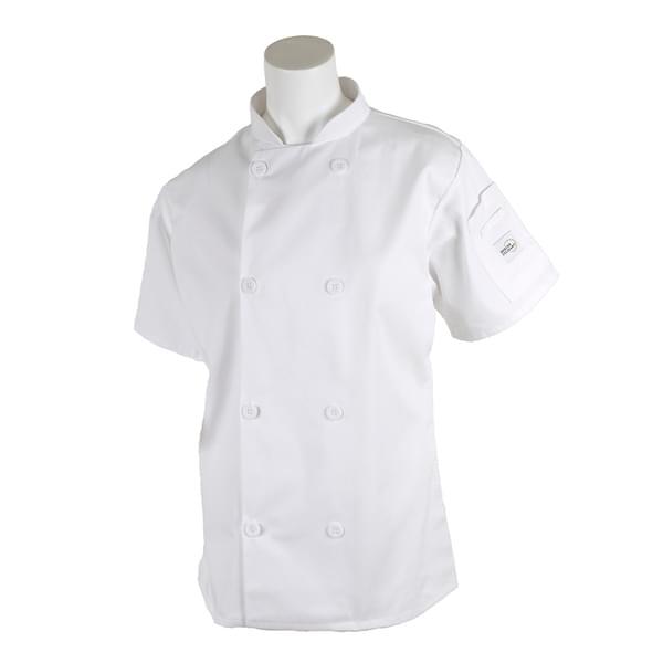 Mercer Culinary M60023WHXS Millennia® Women's Jacket  short sleeve