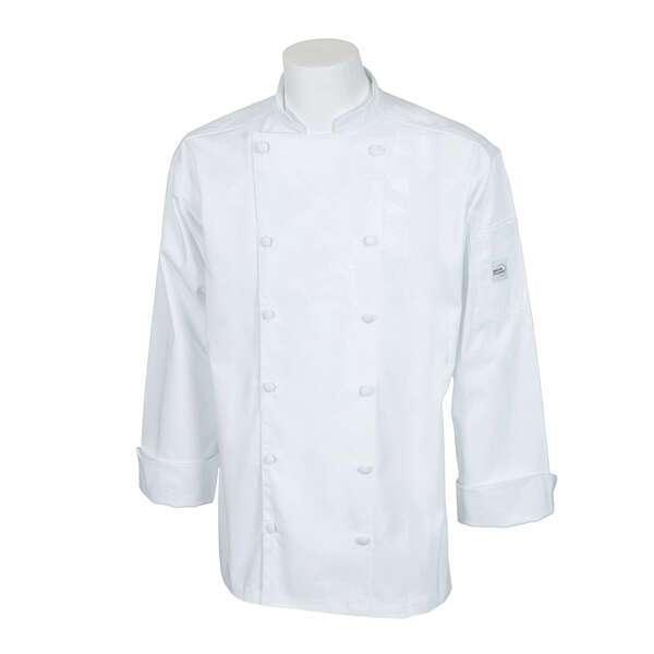 Mercer Culinary M62030WHXS Renaissance Men's Jacket  traditional neck