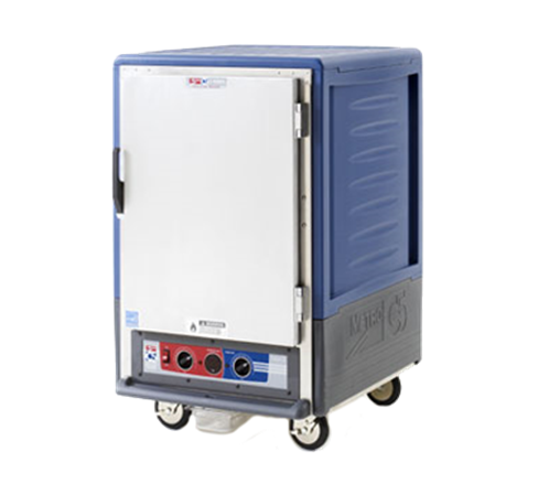 Metro C535-CFS-L-BU C5™ 3 Series with Blue Insulation Armour™ Half Height Solid Door Insulated Mobile Proofing and Holding Cabinet, 120 Volts