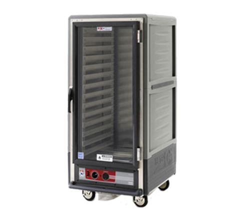 Metro C537-HFC-L-GY C5™ 3 Series with Grey Insulation Armour™ 3/4 Height Clear Door Mobile Heated Holding Cabinet, 120 Volts