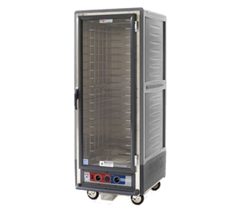 Metro C539-HLFC-4-GY C5™ 3 Series with Grey Insulation Armour™ Full Height Clear Door Mobile Heated Holding Cabinet, 120 Volts