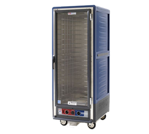 Metro C539-HLFC-L-BUA C5™ 3 Series with Blue Insulation Armour™ Full Height Clear Door Mobile Heated Holding Cabinet, 120 Volts