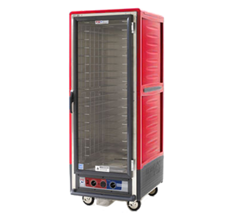 Metro C539-HLFC-UA C5™ 3 Series with Red Insulation Armour™ Full Height Clear Door Mobile Heated Holding Cabinet, 120 Volts