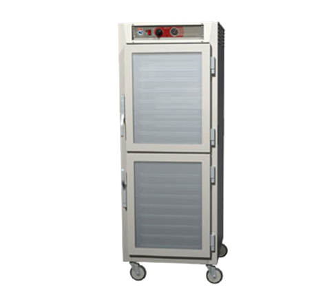Metro C569L-SDC-UPDCA C5™ 6 Series Clear Door Stainless Steel Mobile Pass-Thru Heated Holding Cabinet, 120 Volts