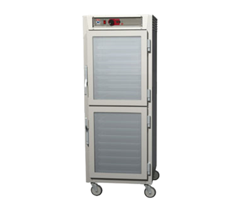 Metro C589-SDC-UPDCA C5™ 8 Series Clear Door Mobile Pass-Thru Heated Holding Cabinet, 120 Volts