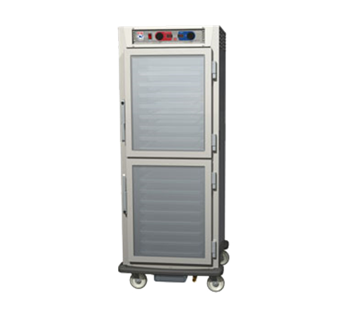 Metro C599-SDC-LPDC C5™ 9 Series Full Height Clear/Solid Door Insulated Mobile Pass-Thru Proofing and Holding Cabinet, 120 Volts