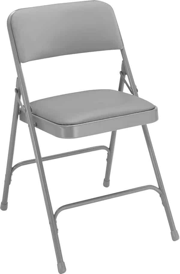 National Public Seating 1202 1200 Series Vinyl Upholstered Premium Folding Chair