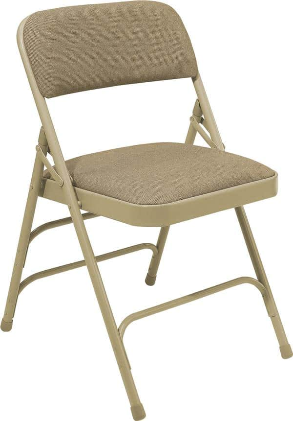 National Public Seating 2301 2300 Series Fabric Upholstered Triple Brace Double Hinge Premium Folding Chair