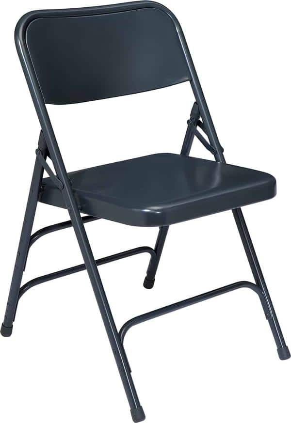 National Public Seating 304 300 Series Premium All-Steel Brace Double Hinge Folding Chair