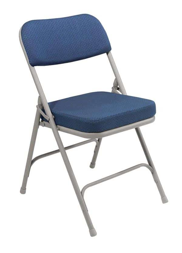 "National Public Seating 3215 3200 Series 2"" Fabric Upholstered Folding Chair"