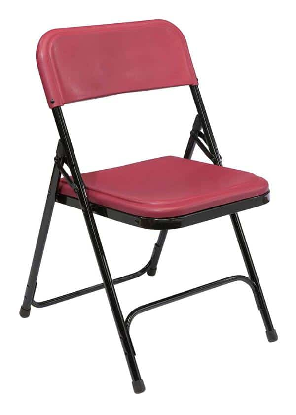 National Public Seating 818 800 Series Premium Light-Weight Plastic Folding Chair