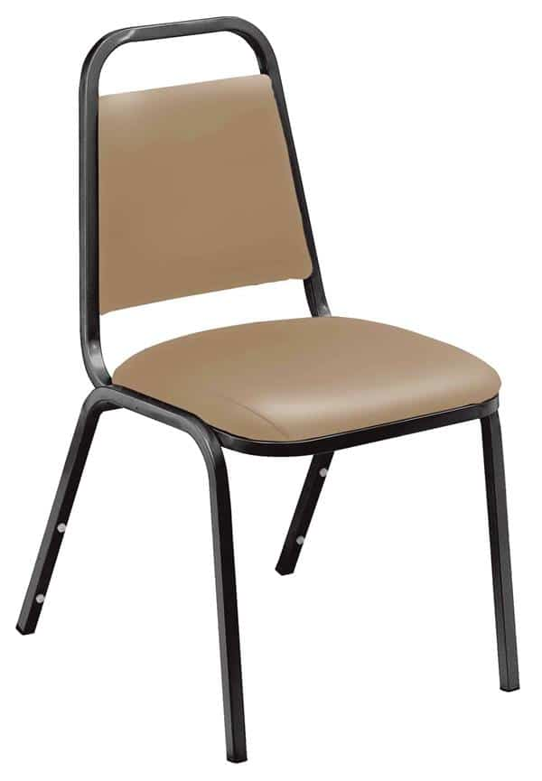 National Public Seating 9101-B 9100 Series Standard Vinyl Upholstered Padded Stack Chair