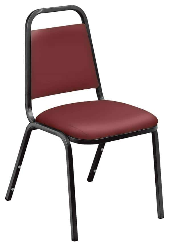 National Public Seating 9108-B 9100 Series Standard Vinyl Upholstered Padded Stack Chair