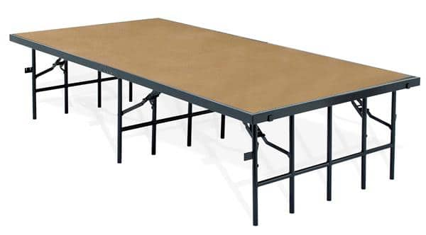 """National Public Seating S488HB 48"""" Wide Stage w/ Hardboard Surface"""