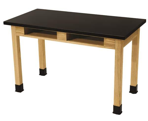 """National Public Seating SLT2460-36-BC 36"""" H Chem Res Top w/ Book Compartments Science Lab Table"""