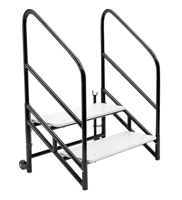 """National Public Seating STP24 Steps for 24""""H Stages Accessories - Two 8""""H step unit"""