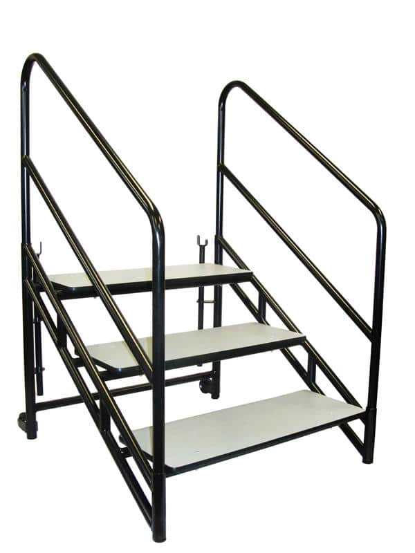 "National Public Seating STP32 Steps for 32""H Stages Accessories - Three 8""H step unit"