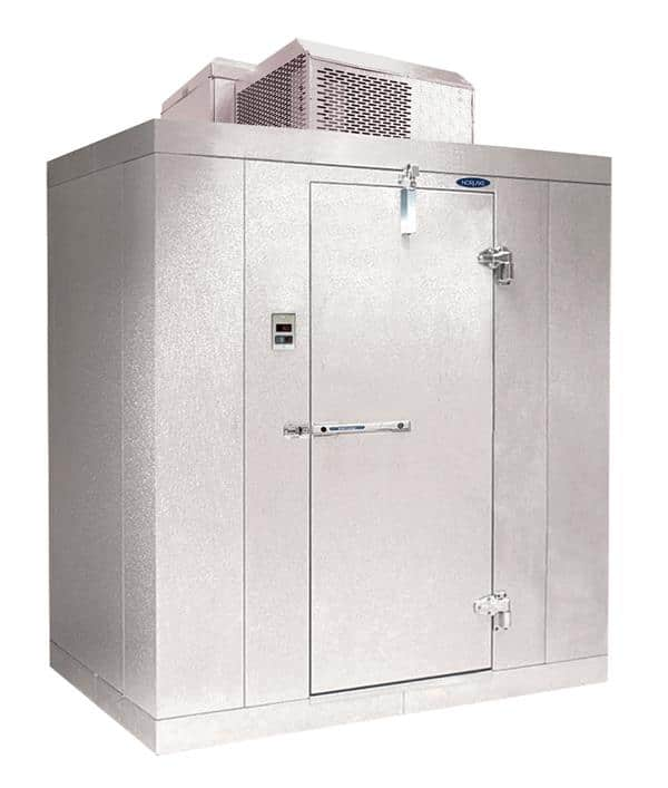 "Nor-Lake KLF68-C 6' x 8' x 6'-7"" H Kold Locker Indoor Freezer with floor"