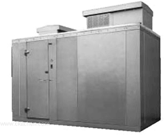 "Nor-Lake KODB46-C 4' x 6' x 6'-7"" H Kold Locker Outdoor Cooler with floor"