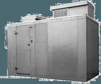 "Nor-Lake KODF68-C 6' x 8' x 6'-7"" H Kold Locker Outdoor Freezer with floor"