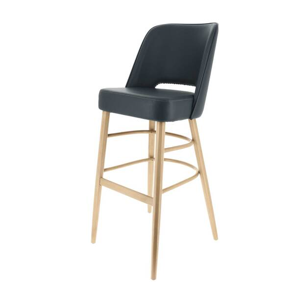 Original Wood Seating POPPIN B XL FP GR8 Poppin Bar Stool  extra wide