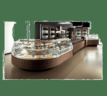 Oscartek Oscartek CLASSIC CPA90 Classic Curved Deli/Pastry Showcase/Display