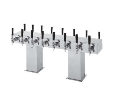 Perlick Corporation Corporation 4006-12BX12BPC4 Back-to-Back Bridge Tee Draft Beer Tower