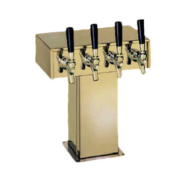 Perlick Corporation Corporation 4006-3BTF4 Tee Draft Beer Tower