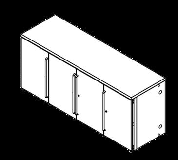 Perlick Corporation Corporation BBRN80 Narrow Door Refrigerated Back Bar Cabinet