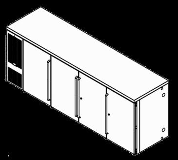 Perlick Corporation Corporation BBSN92 Narrow Door Refrigerated Back Bar *Cabinet
