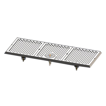 Perlick Corporation Corporation C18750-33-GRC C18000 Series Drip Tray with Rinser for Brewpipe