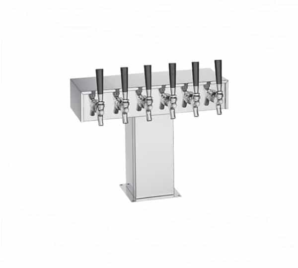 Perlick Corporation Corporation 4006S9BTF4 Wide Base Tee Draft Beer Tower
