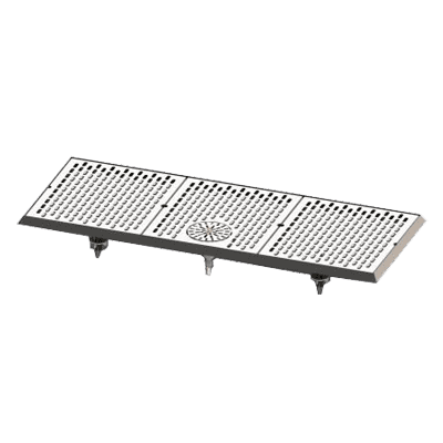 Perlick Corporation C18750-39-GRC C18000 Series Drip Tray with Rinser for Brewpipe