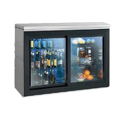 Perlick Corporation SDBR48 Silver 2 Glass Door Refrigerated Back Bar Storage Cabinet, 120 Volts