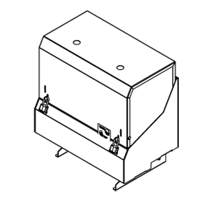 Perlick Corporation Corporation SRLC-D12R Locking Speed Rail Cover
