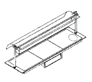Piper Products/Servolift Eastern ND16050-OHD4 Berkeley Hotplate & Sneeze Guard with Heat Lamp
