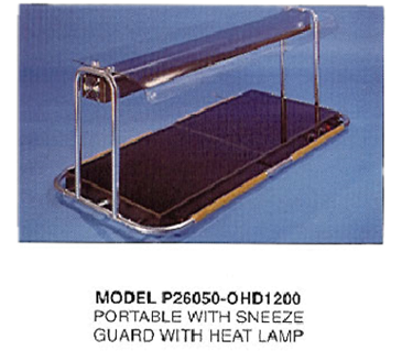 Piper Products/Servolift Eastern P26050-OHD1200 Berkeley Hotplate & Sneeze Guard with Heat Lamp