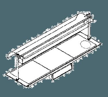 """Piper Products ND36050-OHD4 Berkeley 78.38""""W x 22""""D Heated Shelf Food Warmer - 208 Volts / 3300 Watts"""