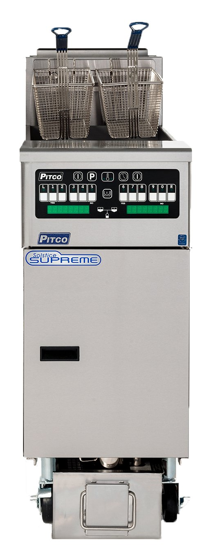 Pitco Frialator SSHLV14T-C/FD Solstice Supreme Reduced Oil Volume Fryer